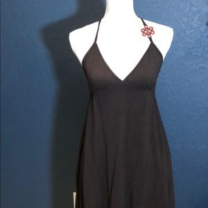 DVF RARE Made in Italy brown cotton dress LOGO